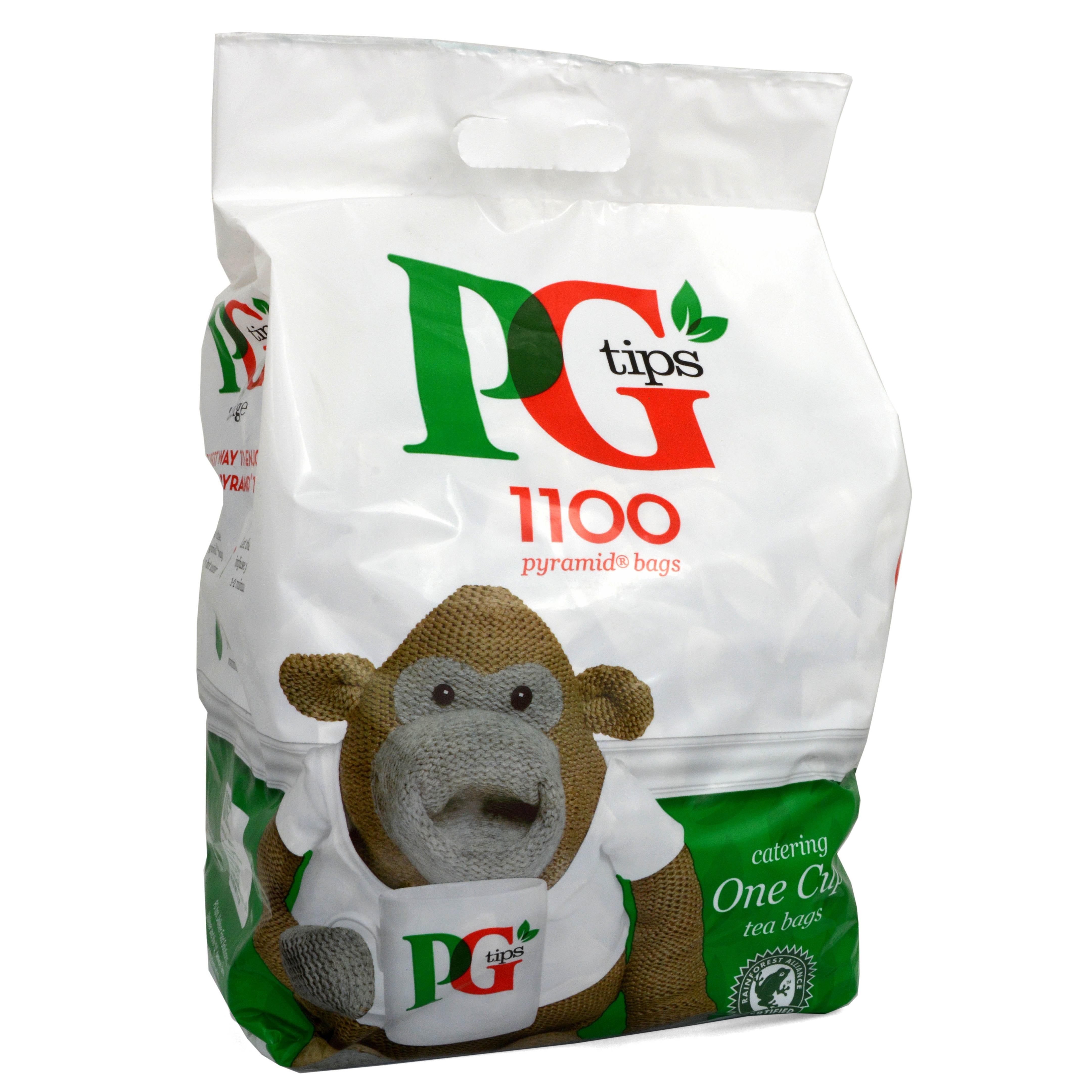 PG Tips Tee 1100 Tassen-Teebeutel - 2200 g - Schwarztee in Teebeuteln
