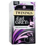 Twinings Earl Grey Tee entkoffeinierter aromatisierter Schwarztee 50 Teebeutel 125g