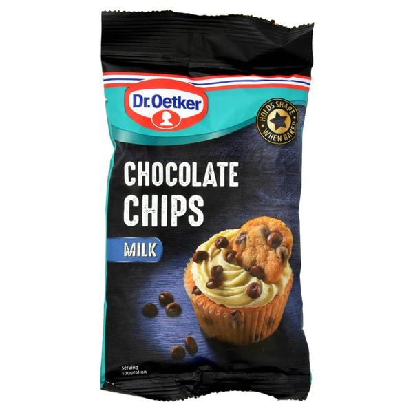 Dr. Oetker Milk Chocolate Chips Milchschokolade-Stückchen 100g