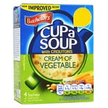Batchelors Cup-a-Soup Cream of Vegetable with Croutons Instant-Gemüsecremesuppe mit Croutons 122g