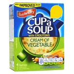 Batchelors Cup-a-Soup Cream of Vegetable with Croutons 122g - Instant-Gemüsecremesuppe mit Croutons