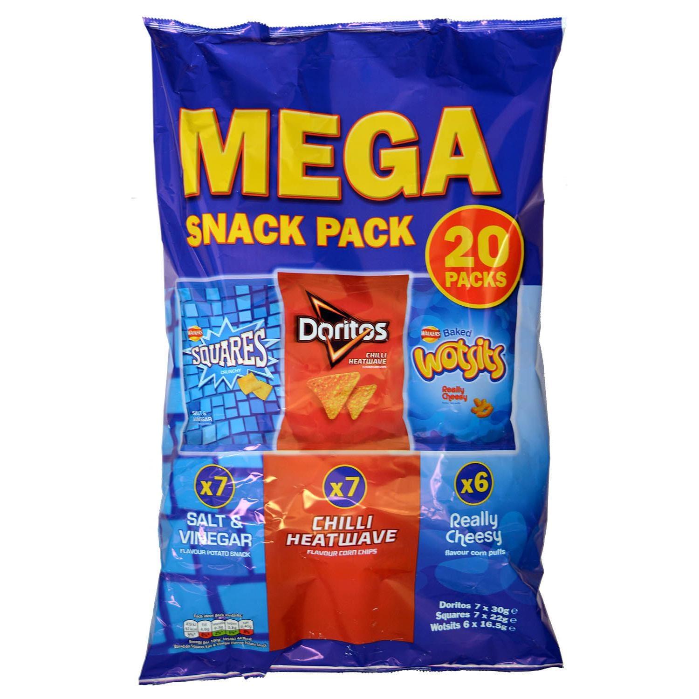 Walkers Mega Snack Pack 20er 463g - Snack-Sortiment