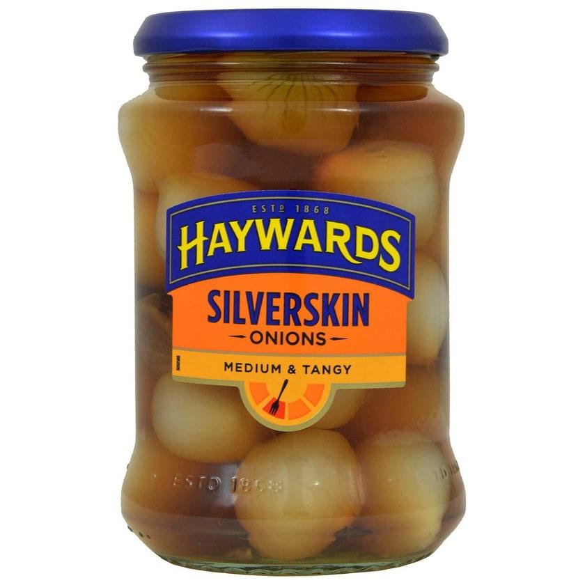 Haywards Medium Silverskin Onions 400g - Silberzwiebeln in Aufguss, Abtropfgewicht 215g