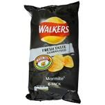 Walkers Marmite, 6 x 25g Pack - Kartoffelchips Hefe-Extrakt-Geschmack
