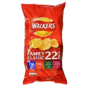 Walkers 22-Pack Classic Variety - Chips-Sortiment, klassisch
