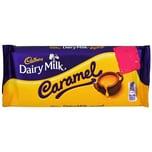 Cadbury Dairy Milk Caramel 120g - Milchschokolade mit Karamellfüllung (40%)