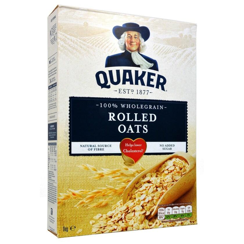Quaker Porridge Oats 1kg - Haferflocken, gewalzt
