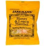 Jakemans Honey & Lemon Menthol Sweets 100g - Mentholbonbons, Honig & Menthol-Geschmack