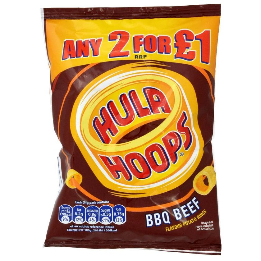 KP Hula Hoops BBQ Beef 34g Kartoffel-Snack