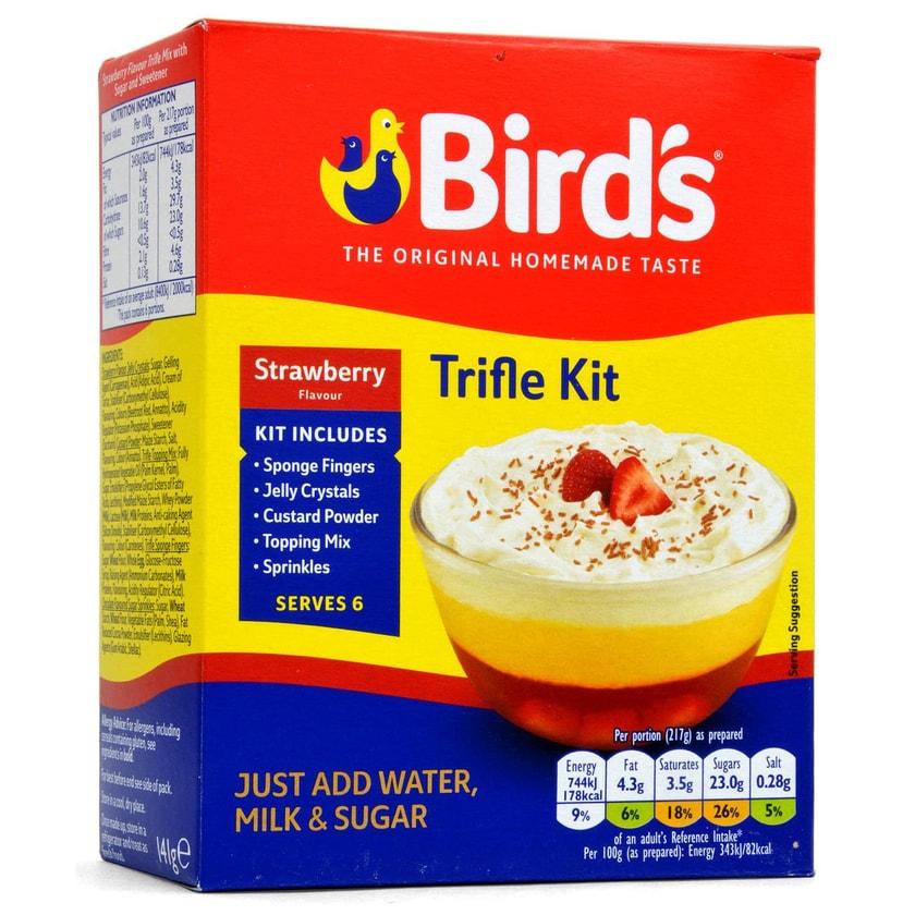 Birds Trifle Strawberry - 3-Schichten-Dessert Mischung, Erdbeere