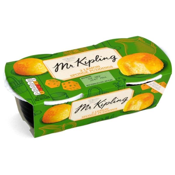 Mr. Kipling 2 Lemon Sponge Puddings 190g - Rührkuchen mit Zitronen-Sauce (42%)