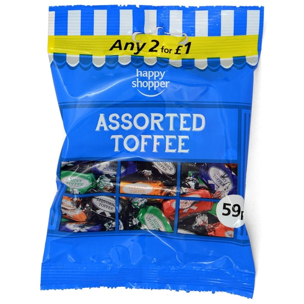 Happy Shopper Assorted Toffees - 80g Karamellbonbon-Sortiment