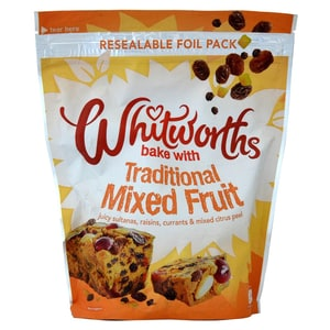 Whitworths Juicy Mixed Fruit Fruchtmischung zum Backen 350g