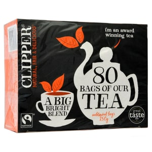 Clipper 80 Fairtrade Tea Bags 250g - Schwarztee in Teebeuteln