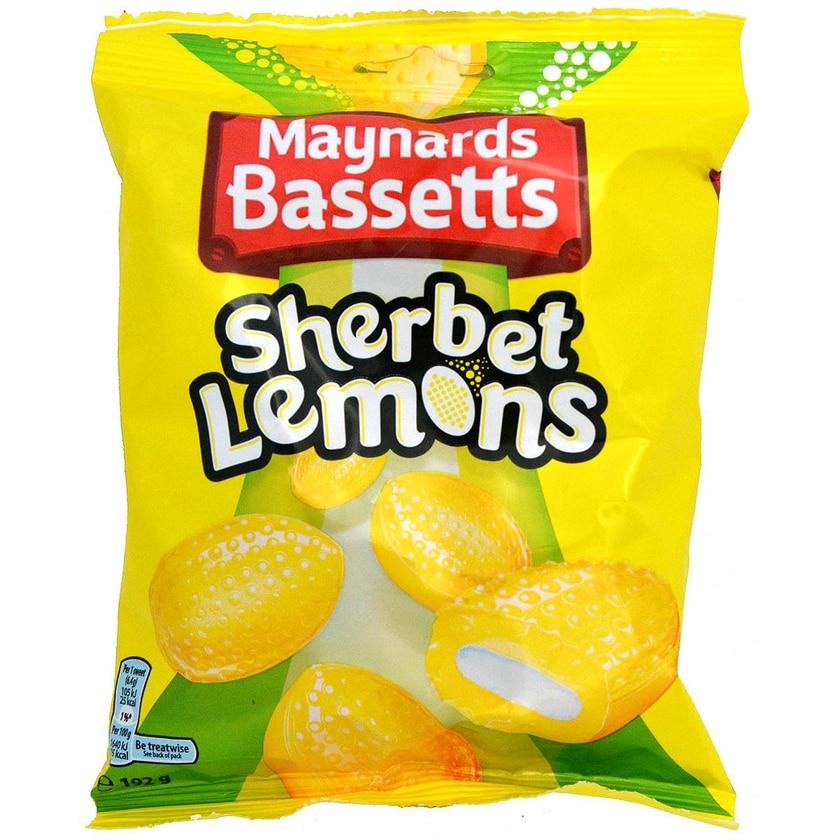 Maynards Bassetts Sherbet Lemons - Zitronen-Bonbons mit Brause-Füllung
