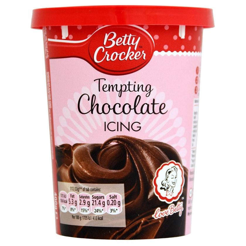 Betty Crocker Tempting Chocolate Icing 400g - Kuchenguss Schoko-Geschmack