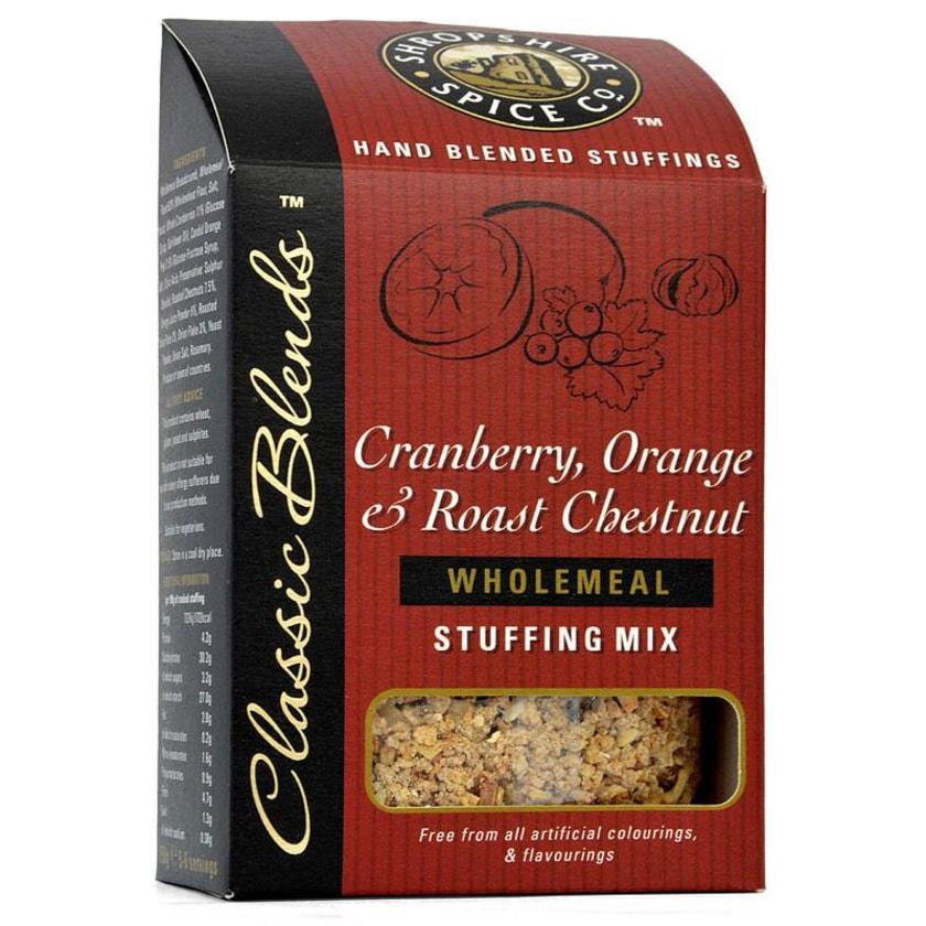 Shropshire Cranberry, Orange & Chestnut Stuffing Mix - Füllung für Fleisch mit Cranberry, Orange und Kastanie