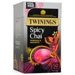 Twinings Chai 50 Beutel aromatisierter Schwarztee 125g