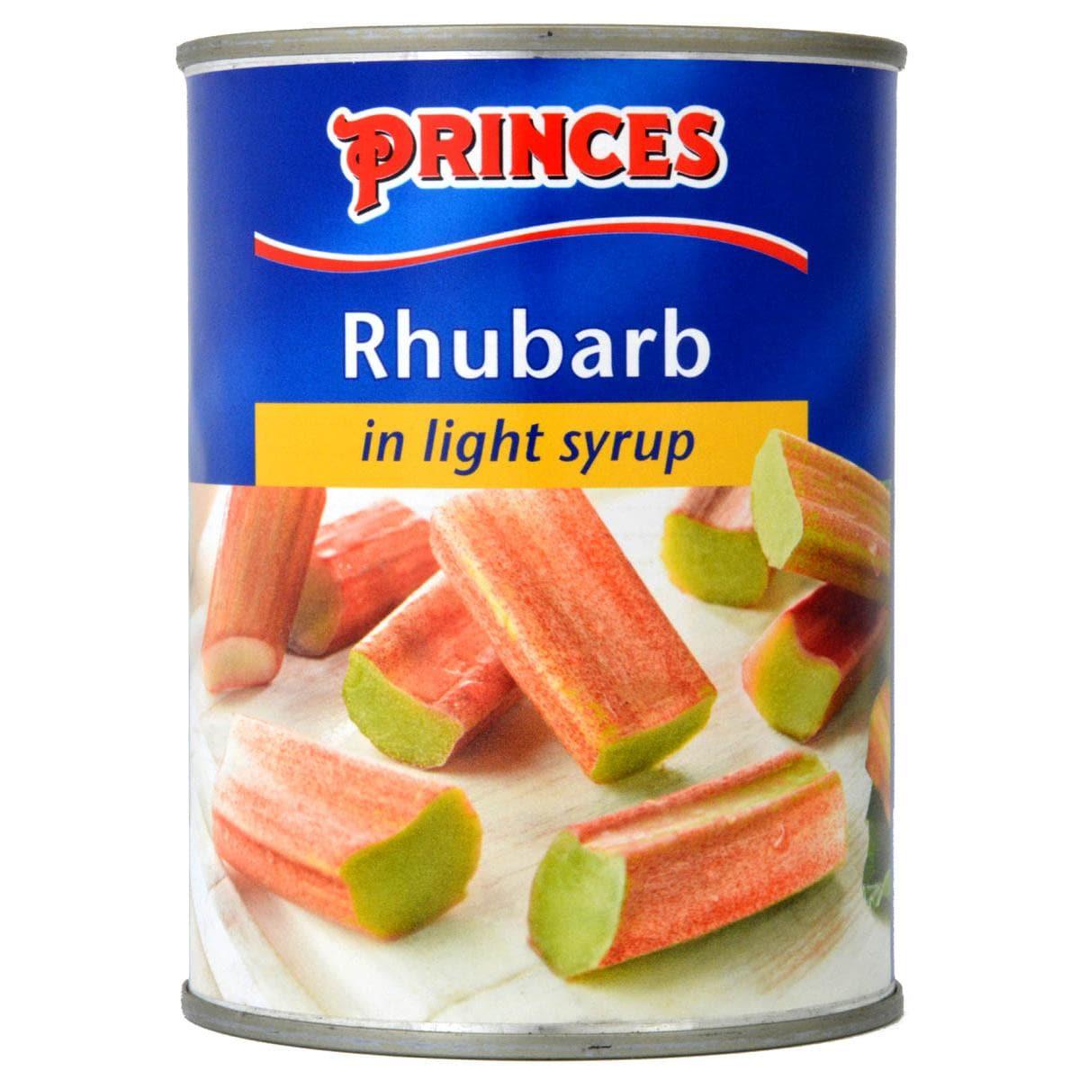 Princes Rhubarb in Light Syrup 540g - Rhabarber in Sirup
