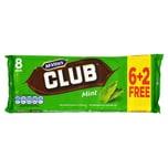 McVities Club Mint 8 Riegel - Keks mit Minzgeschmack-Creme in Milchschokolade