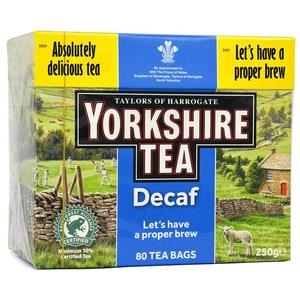 Yorkshire Tea Entkoffeiniert 80 Teebeutel - 250g - Schwarztee in Teebeuteln, Teinfrei