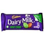 Cadbury Dairy Milk Mint Crisp 54g mit Knusperperlen