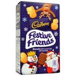 Cadbury Festive Friends Biscuits 150g mit Milchschokolade
