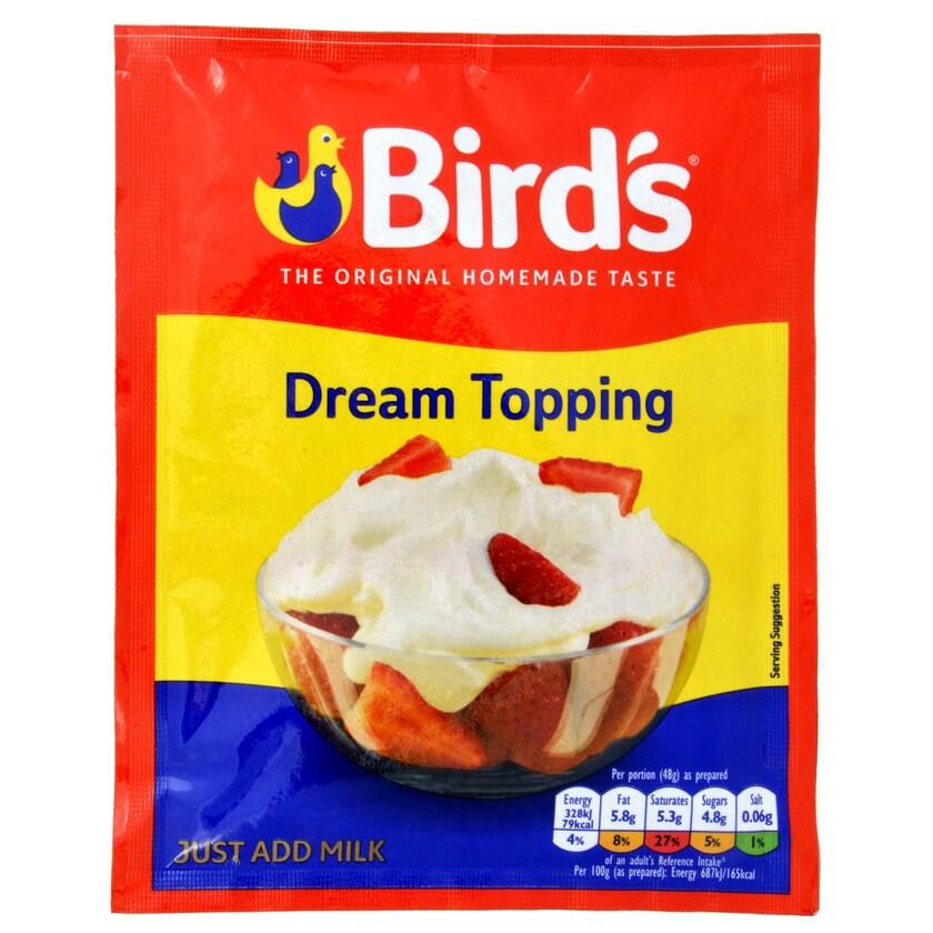 Birds Dream Topping 36g - Nachtisch-Mix nach Art einer Sahne