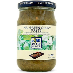 Blue Dragon Thai Green Curry Paste - scharfe grüne Thai-Currypaste