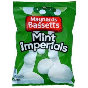 Maynards Bassetts Mint Imperials 200g Bag - Bonbons Pfefferminz-Aroma