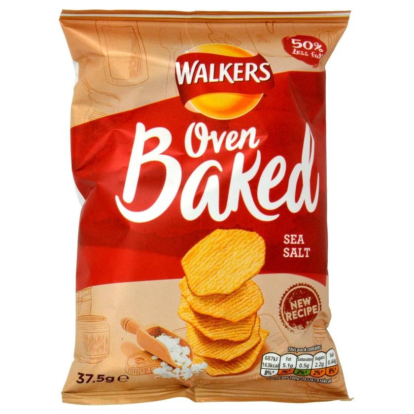 Walkers Oven Baked Sea Salt 37.5g Tüte gebackener Kartoffelsnack