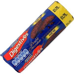 McVities Double Chocolate Digestives 267g - Weizenschrotkekse mit Schoko-Geschmack