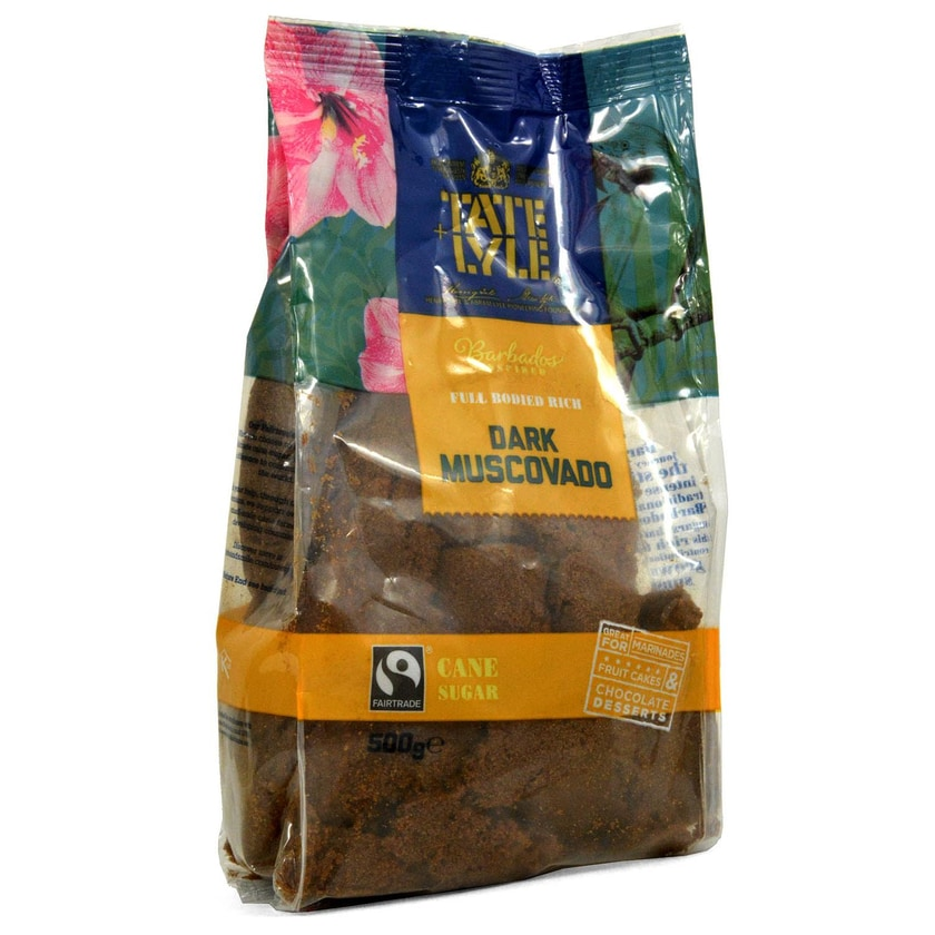 Tate+Lyle Fairtrade Dark Muscovado Sugar 500g Rohrohrzucker dunkel
