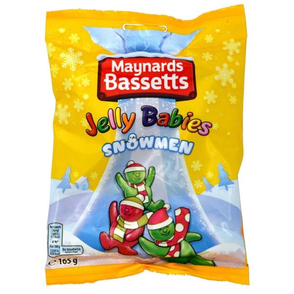 Maynards Bassetts Jelly Babies Snowmen 165g