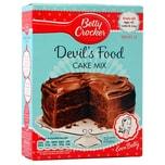 Betty Crocker Devil´s Food Cake Mix - Backmischung Schokoladenkuchen#