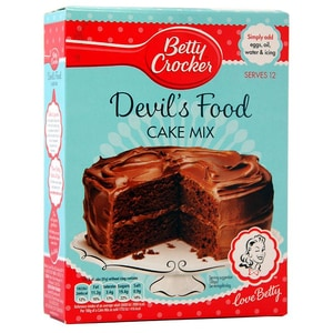 Betty Crocker Devil´s Food Cake Mix - Backmischung Schokoladenkuchen#
