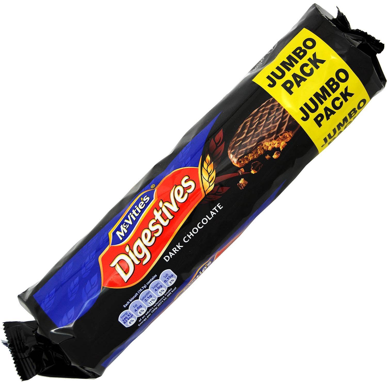 McVities Dark Chocolate Digestives 433g - Weizenschrotkekse mit Schokoladenüberzug