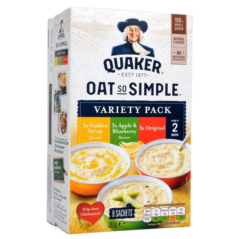 Quaker Oats So Simple Porridge Variety 9-pack - Instant-Haferflocken-Sortiment