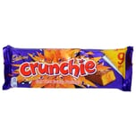 Cadbury Crunchie 9er-Pack Milchschokolade mit 37% Knusperkaramellfüllung 235g