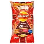 Walkers 20er-Pack Meat Chips Sortiment 500g