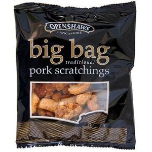 Openshaws Big Bag Pork Scratchings - frittierte, gewürzte Schweineschwarte