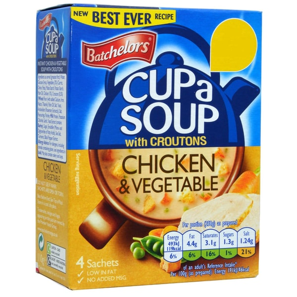 Batchelors Cup a Soup Chicken & Vegetable Instant-Suppe Huhn & Gemüse-Geschmack 150g