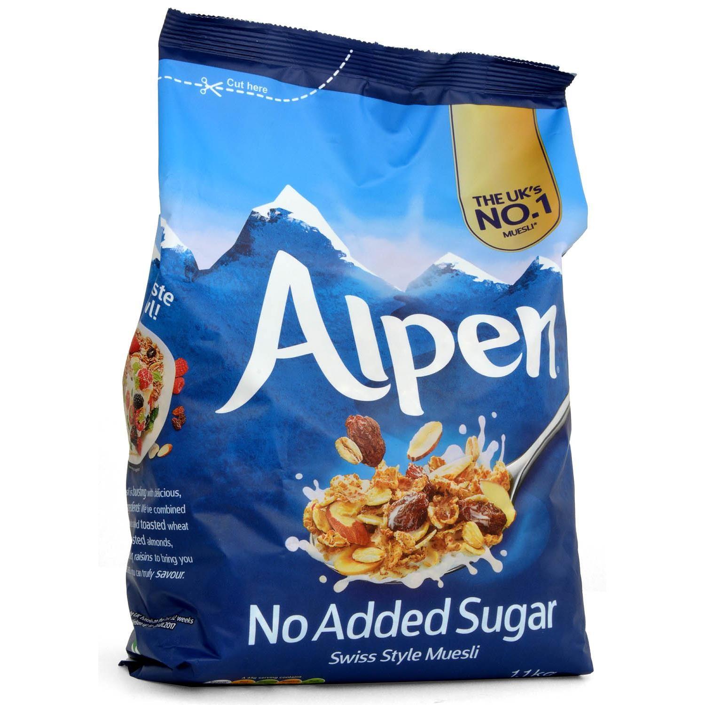 Alpen Muesli No Added Sugar ohne Zuckerzusatz 1,1kg