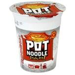 Pot Noodle Sticky Rib Flavour 90g - Instant-Nudelgericht Schälrippchen-mit-Soße-Geschmack