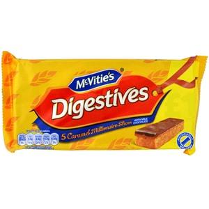McVities Digestives Millionaire Slices 109g - Keksriegel mit Karamell- und Schokoauflage