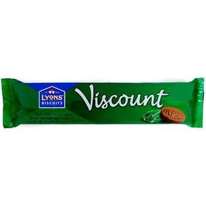 Lyons Viscount Original Mint Cream Biscuits - Biskuit-Törtchen mit Schokoüberzug, Minzgeschmack