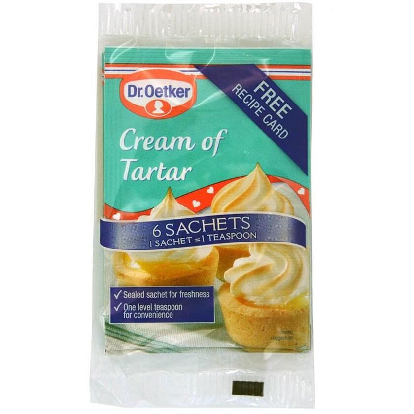 Dr. Oetker Cream of Tartar 6 x 5g Tütchen - Backtriebmittel Weinstein