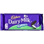 Cadbury Dairy Milk Oreo Mint 120g - Milchschokolade mit Keks und Creme, Minzgeschmack