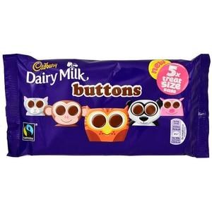 Cadbury Buttons 5x Treatsize Bag 70g - Milchschokoladen-Linsen