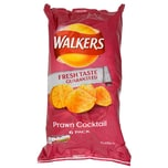 Walkers Prawn Cocktail, 6 x 25g Pack - Kartoffelchips Krabbencocktail-Geschmack